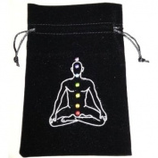 Chakra Symbol Luxury Velvet Drawstring Tarot or Oracle Card Bag