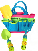 """Kids Garden Tool Set with Tote , Tools Handles Made As """" Cute Bugs """""""