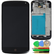 LCD Touch Screen Digitizer Assembly + Front Frame for LG E960 Google Nexus 4
