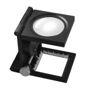 8X30 mm Three-Folding Scale Magnifier Magnifying Glass Stand Repair LED