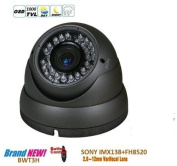 BW® CCTV Camera SONY IMX138 1000TVL HD Day and Night 2.8-12mm Vari-Focal Korea Grey Dome Camera With IR-CUT function Outdoor or Indoor Use