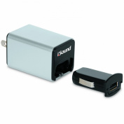 iSound Wall and Car Combo Charger Pro for smartphones, tablets, MP3 players and other USB powered devices