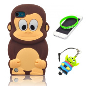 I Need Authentic 3D Brown Monkey Soft Silicon Case Cover Compatible for Ipod Touch 5/5g/5th Generation