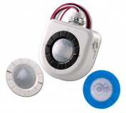 Leviton OSFHU-CTW High-Bay Fixture Mount Occupancy Sensor, 360 and Aisle Way (Both Lenses Included) with Passive Infrared Technology, White