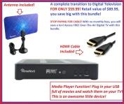 Mediasonic HW180STB + HW110AN Digital Antenna + 1.8m HDMI Cable ~~~ HomeWorx HDTV Digital Converter Box with HDMI and USB playback