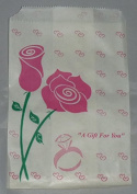 Rose Paper Bags - Flat Glassine 4x6 - 500 Pcs