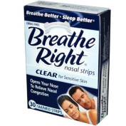 Breathe Right Nasal Strips Clear Small-Medium - 30 Strips