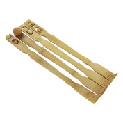 Bamboo 50cm Wood Therapeutic Back Scratcher w/ Massage Rollers