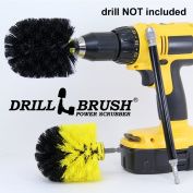 Drill Powered Nylon Bristle Cleaning Brushes with Sleeved Extension Kit