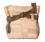 Artelusa Natural Cork Big Bow Shoulder Beige Handbag Made in Portugal