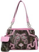 Western Cowgirl Guns Pistol Camo Satchel Purse w/ Concealed Weapon Gun Pocket