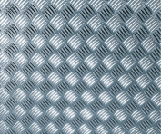d-c-fix® Like-Contact (self adhesive vinyl film) Metallic Chequered Plate High Gloss Silver 67.5cm x 1.5m 340-8007