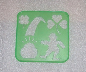 Tupperware Stencil Art Replacement St Patrick's Day Holiday Theme #2290