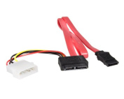 Startech.com 50cm Slimline Sata To Sata With Lp4 Power Cable Adapter