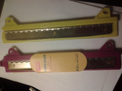 Staples 3-hole Punch/25cm Ruler - For 3 Rings Binders -In Fuschia or Yellow