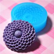 048LBH Flower / Pom Pom Chrysanthemum Silicone Flexible Push Mould - Jewellery, Charms, Cupcake
