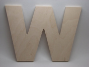 LetterWorx 20cm Wooden Letter W - Arial Font | Unfinished Baltic Birch Wood | 20cm Tall