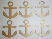 Anchor Cut Outs Unfinished Mini Anchors 6.4cm Inch 6 Pieces ANCH-06