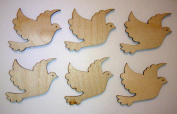 Dove Cut Outs Unfinished Mini Doves 5.1cm Inch 6 Pieces DOV-06