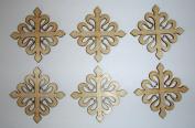 Calatrava Cross Unfinished Wooden Crosses Mini Cut Outs 7cm Inch 6 Pieces