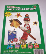 Holiday Dimensional Kidz Kollection Iron On Fabric Applique Kit Giddy-Up