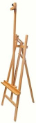 US Art Supply® SUNSET Refined Sturdy Inclinable Wood Artist Lyre Easel