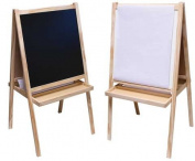 US Art Supply® ZUMA Children's Paint & Drawing Artist Easel with Chalkboard & Dry Erase Board, Large Trays, Paper Roll