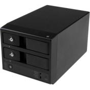 "USB 3.0/eSATA Dual 3.5"" SATA HDD Trayless Enclosure"