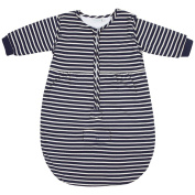JoJo Maman Bebe Baby Travel Sleeping Bag, Navy Ecru Stripe, 0-6 Months