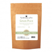 The Republic Of Tea Ginger Peach 100% White Tea, 250 Tea Bags