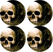 Skull Rubber Round Coaster set (4 pack) Great Gift Idea