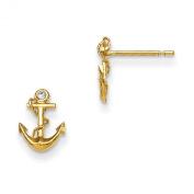14K Madi K CZ Children's Anchor Post Earrings