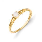 14K Madi K 3mm Opal Birthstone Baby Ring