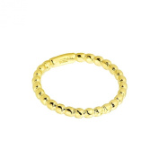 Solid 10k Yellow Gold Beaded Band Baby Ring