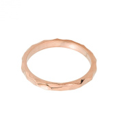High Polish 14k Rose Gold Spike Band Baby Ring