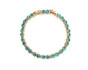 KATGI Fashion 18K Gold Plated Beautiful Starry Austrian Blue Crystal Bracelet
