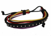 Leather Bracelet Rope, Black Leather Bracelet, Unisex Surfer Wrap Bracelets