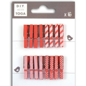 Mini clothespins - red