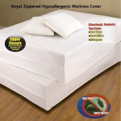 Royal Bed Bug Hypoallergenic Mattress Cover With Zipper Enclosure - KING Size