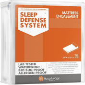 The Original Sleep Defence System - Waterproof / Bed Bug / Dust Mite Proof - PREMIUM Zippered Mattress Encasement & Hypoallergenic Protector - 140cm by 190cm , Full - Standard 30cm