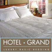 Hotel Grand Luxurious Downtop Baffle Box 13cm Gusset Featherbed. Full
