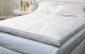 Down Top Baffled Box Feather Bed White Queen