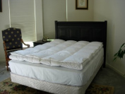 Imperial Queen White Goose Down Feather Bed with Down Pillow Top Design - 2 Layers