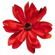 Daisy Artificial Flower Hair Clip/Pin Brooch, Red