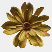 Daisy Artificial Flower Hair Clip/Pin Brooch, Olive Green