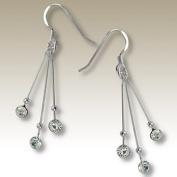 White Crystal Earrings 925 Sterling Silver White Bean Teardrop Earrings