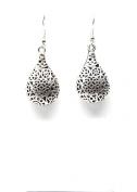 . Fashion Tibetan Silver Hollow Tear Drop Dangle Earring Set / AZERVI022-ASL