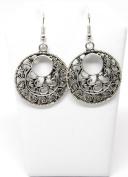 . Fashion Tibetan Silver Hollow Round Drop Dangle Earring Set / AZERVI023-ASL