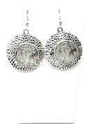 . Fashion Tibetan Silver Hollow Antique Plate Dangle Earring Set / AZERVI019-ASL