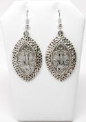 . Fashion Tibetan Silver French Royal Style Dangle Earring Set / AZERVI021-ASL